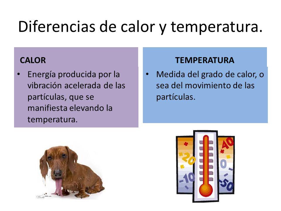 Diferencia entre temperatura y calor